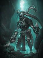 cave guard by Kartozhechka