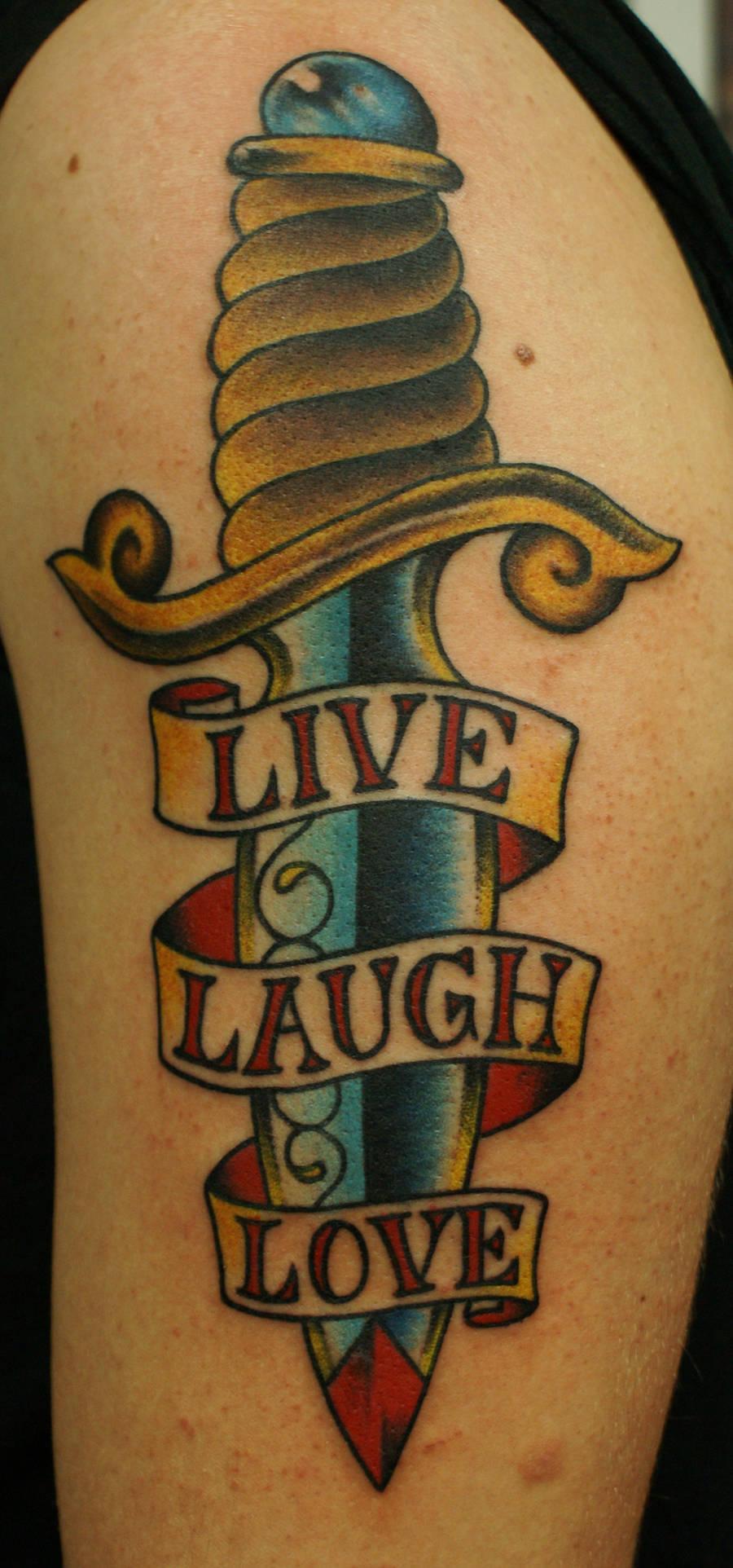 live laugh love dagger by BrettPundt
