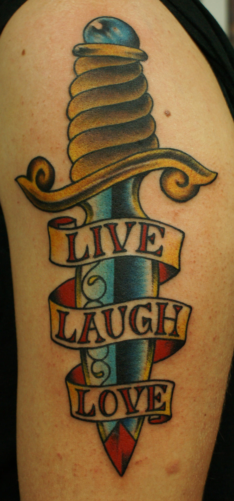 live laugh love dagger