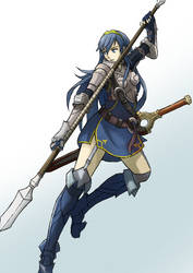 Fire emblem: Lucina as a pegasus knight