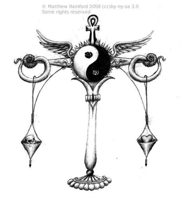 Libra Symbol Tattoo Designs