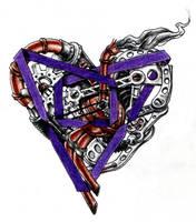 Steampunk Poly Heart by Bobbu