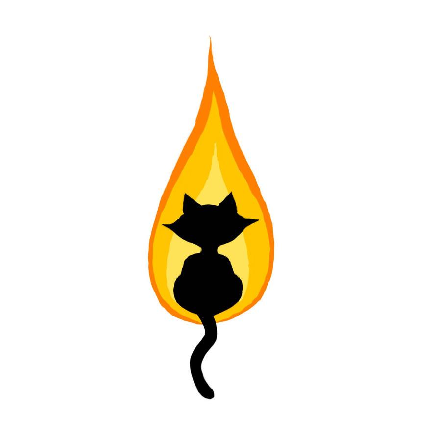 Flame Kitty Tattoo by Bobbu