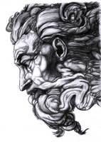 Michelangelo's God -shaded- by Bobbu