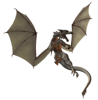 Zombie Dragon 003 by Selficide-Stock
