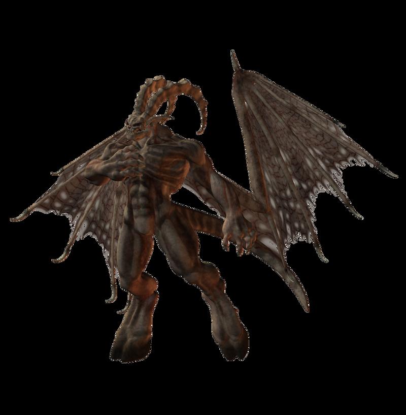 Bone_Demon : Winged 002 by Selficide-Stock