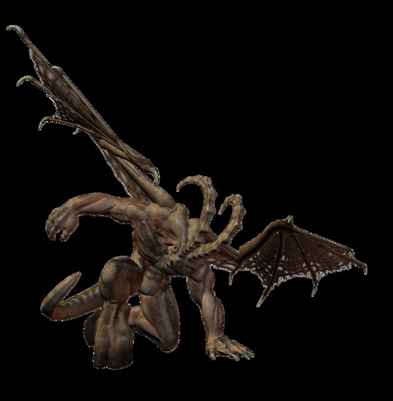 Bone_Demon : Winged 003 by Selficide-Stock