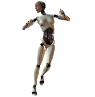 She-Bot : White 006 by Selficide-Stock
