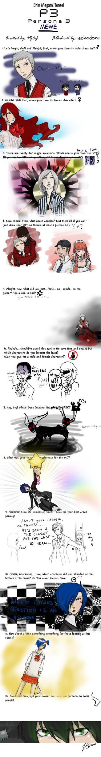 Persona 3 Meme by nekodoru