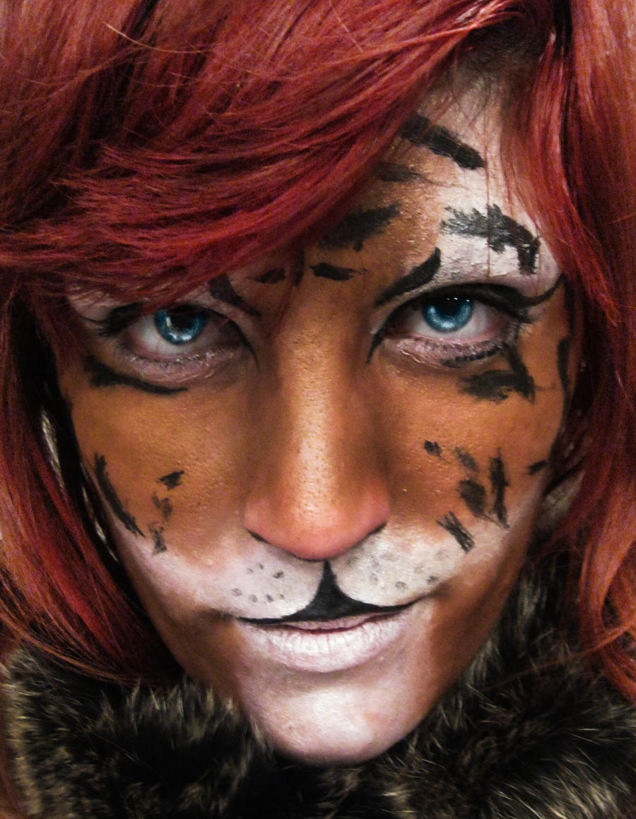 Lion Face Paint Tutorial