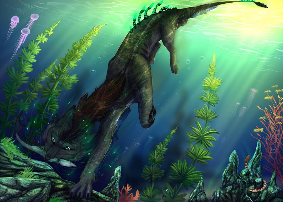 Underwater Hunting by Araivis-Edelveys
