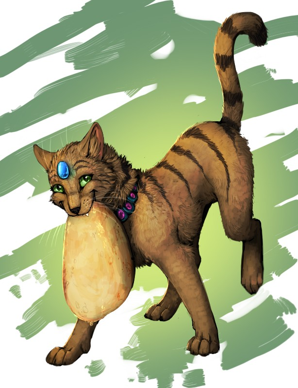 Cat with pancake by Araivis-Edelveys