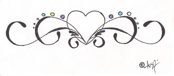my tribal heart tattoo design by hellsoriginalangel on deviantart. Black Bedroom Furniture Sets. Home Design Ideas