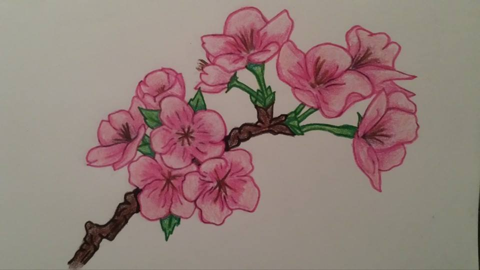 Japanese cherry blossom tattoo design by HellsOriginalAngel