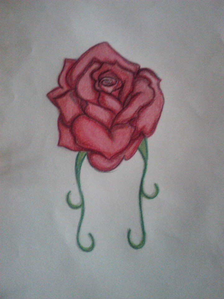 Rose tattoo design by HellsOriginalAngel