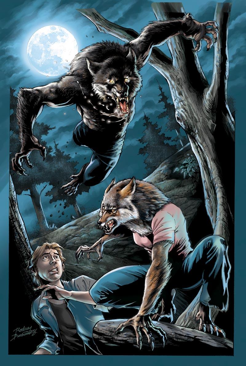 Werewolf pinup_colors by Buchemi on DeviantArt