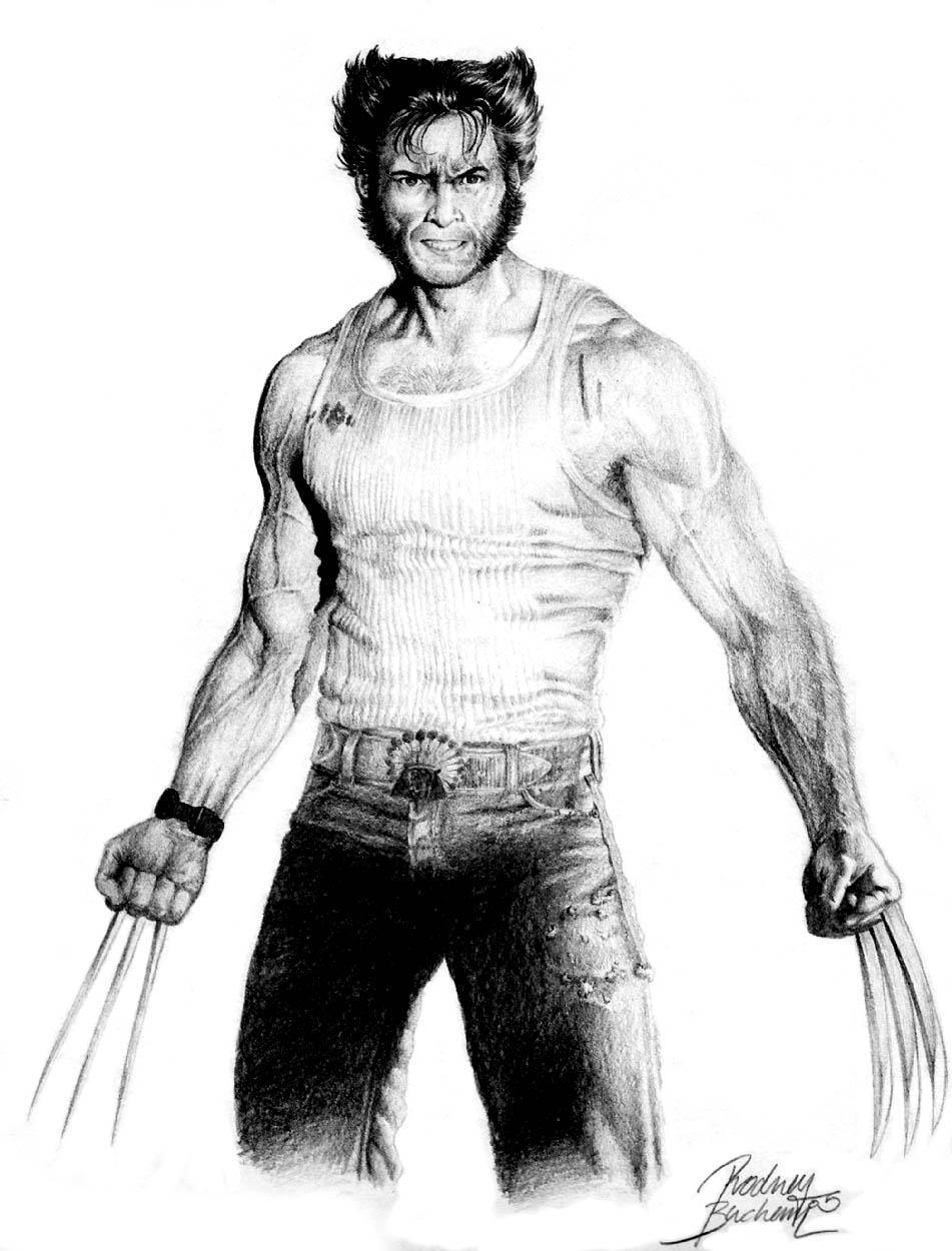 Marvel Deadpool Ausmalbilder Gratis: Wolverine Bio