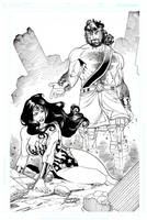Hercules and Wonder Woman by Buchemi