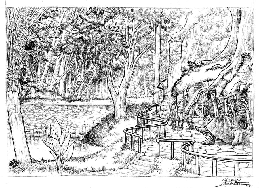 Gandalf and Bilbo by Buchemi