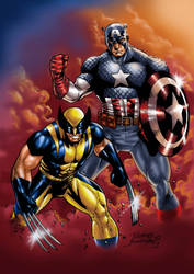 Captain America and Wolverine by Buchemi