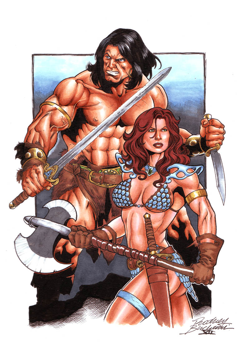 Conan and Red Sonja commission by Buchemi