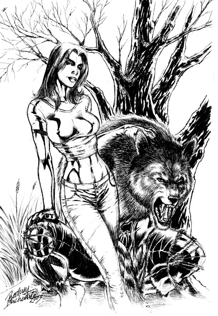 werewolf lady by Buchemi