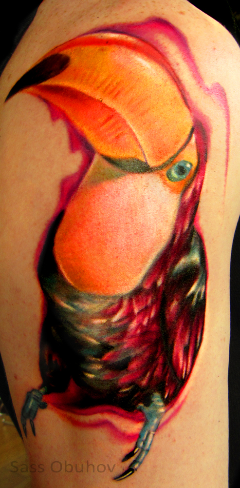 toucan tattoo va pictures to pin on pinterest tattooskid. Black Bedroom Furniture Sets. Home Design Ideas