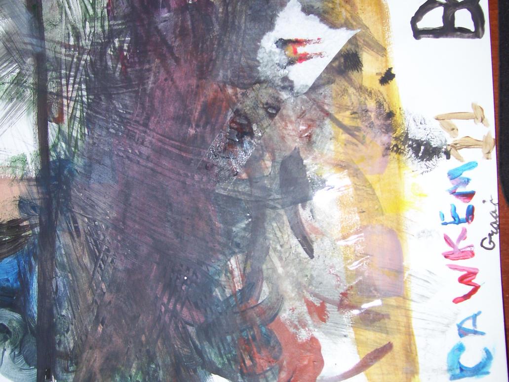"b490 /""Footprints/"" Poster footprint in sand Inspirational Art Religious NOS"