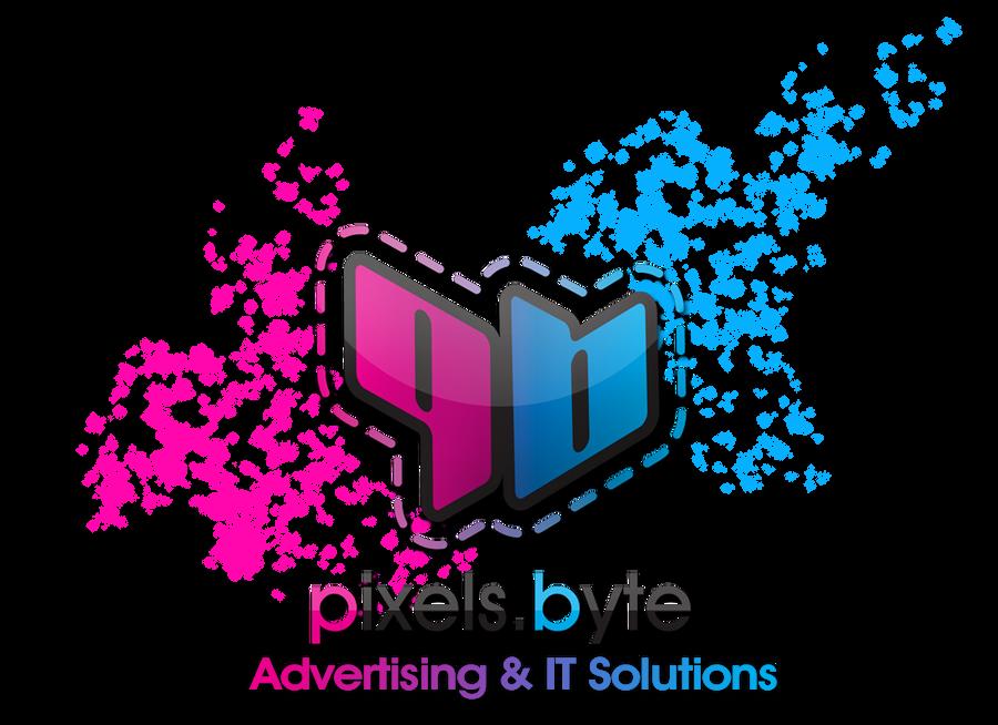 Pixels Byte Logo by iEzQaNDaR