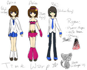 Time Warp - Character Designs