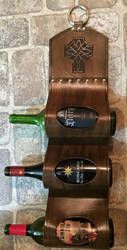 Leather Wine Rack by Troidair