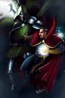 Dr Doom vs Dr Strange by PieroMng