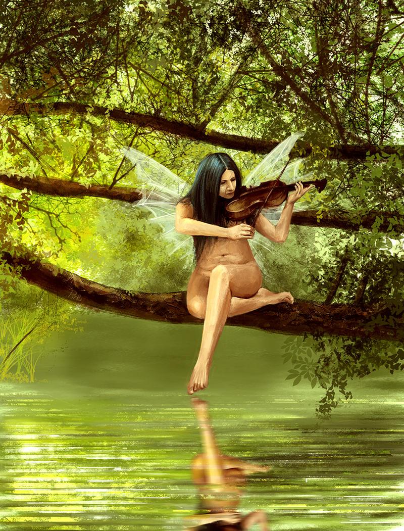 Fairy musician by PlER0