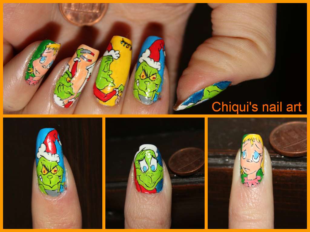 The Grinch Nail Art By Chiquisart On Deviantart