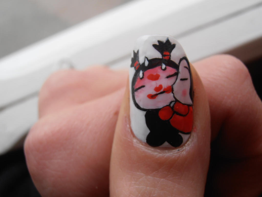 Pucca sweet kisses nail art by ChiquisArt on DeviantArt