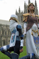 Sheik and Zelda Cosplay - 2 by DunnyRaddit