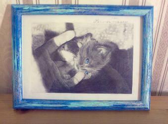 Blue world, framed