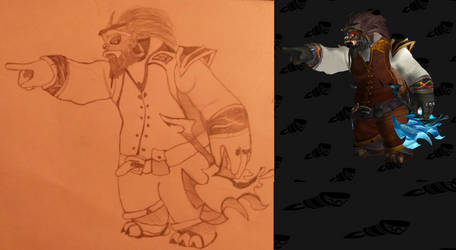 My wow shaman pandaren drawing