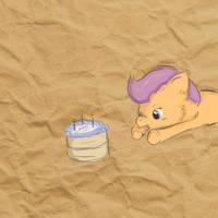 Scootsaloo Likes Cake! *Request