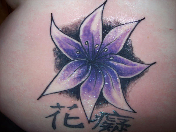 Flower back piece in progress | Flower Tattoo