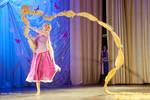 Rapunzel cosplay action