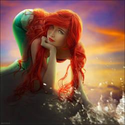 The little mermaid by iluviar by Usagi-Tsukino-krv