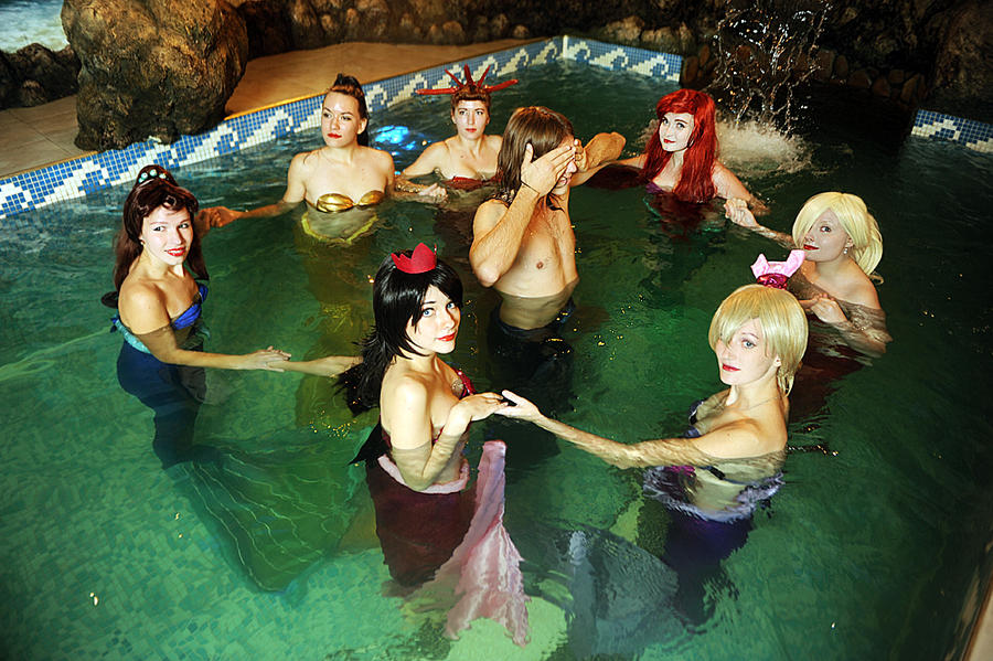Mermaid Group 4 by Usagi-Tsukino-krv