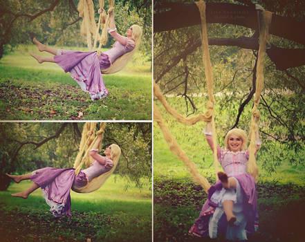 Rapunzel on a swing 1