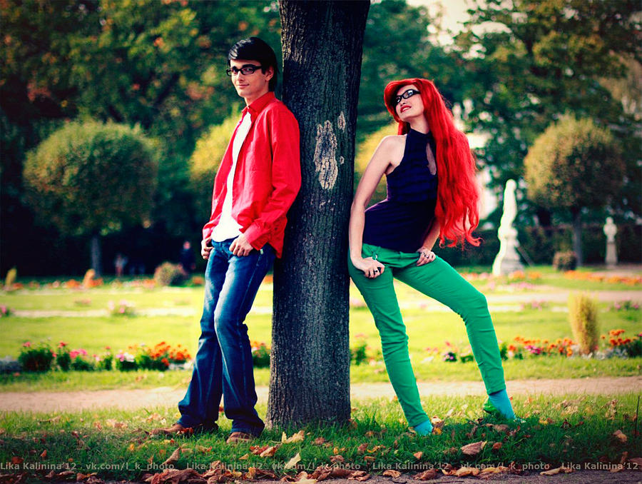 Casual Eric and Ariel 1 by Usagi-Tsukino-krv