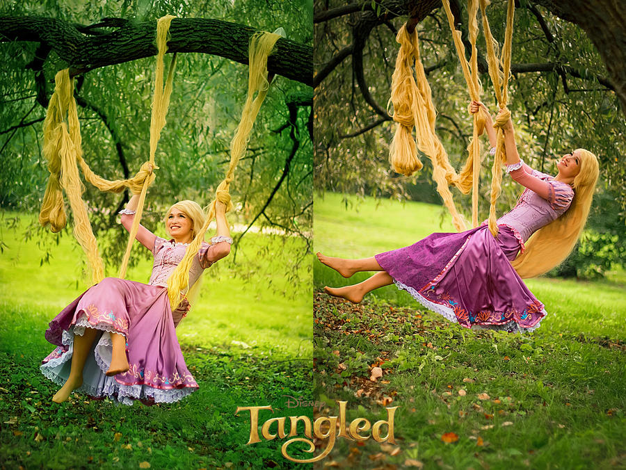 Rapunzel on a swing 2 by Usagi-Tsukino-krv