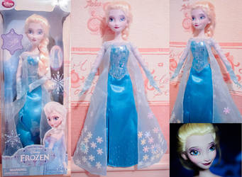 Frozen - Elsa Singing Doll OOAK by Usagi-Tsukino-krv