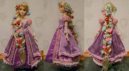 Tangled - Rapunzel Singing Doll OOAK by Usagi-Tsukino-krv