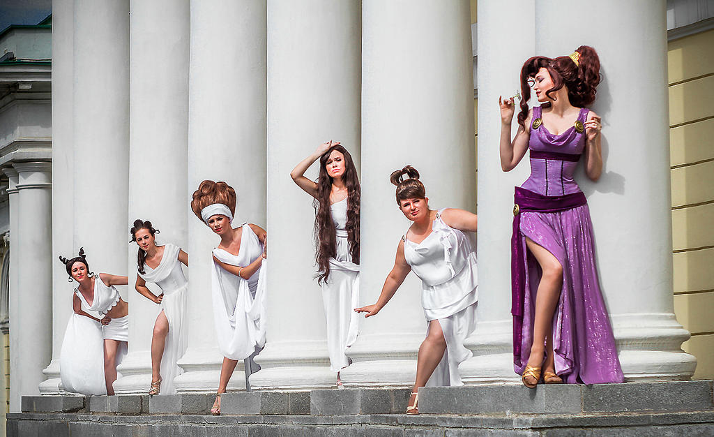 Megara and muses by Usagi-Tsukino-krv