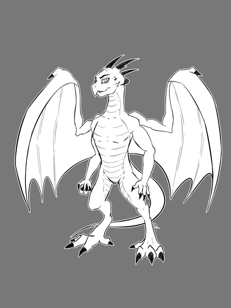 Anthro Dragon Commission by Nickmoble
